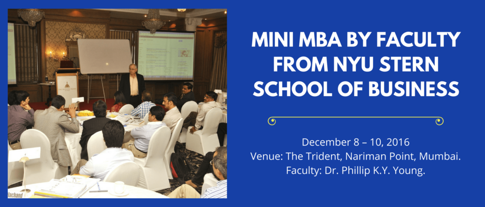 Mini MBA by faculty from NYU Stern School of Business