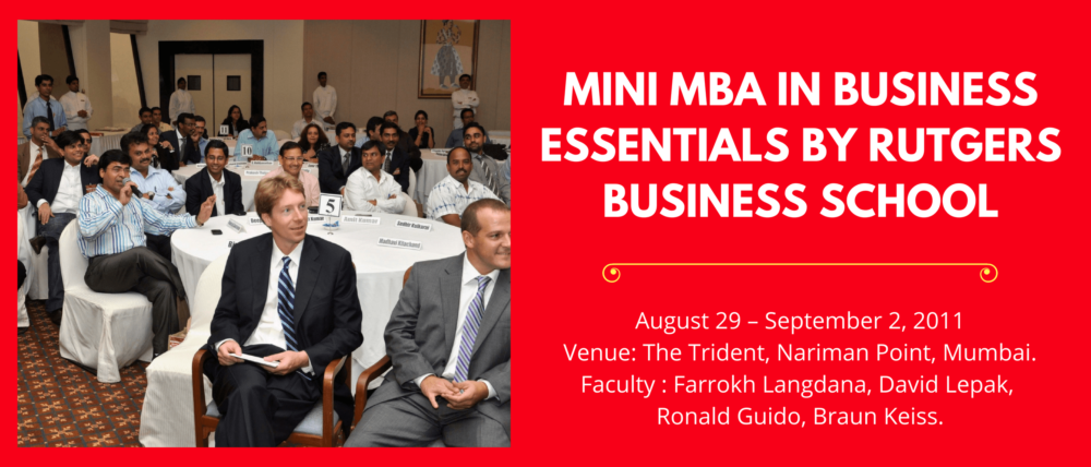 Mini MBA in Business Essentials by Rutgers Business School